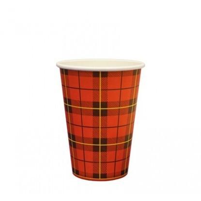 koffiebeker Schotse ruit 18cc