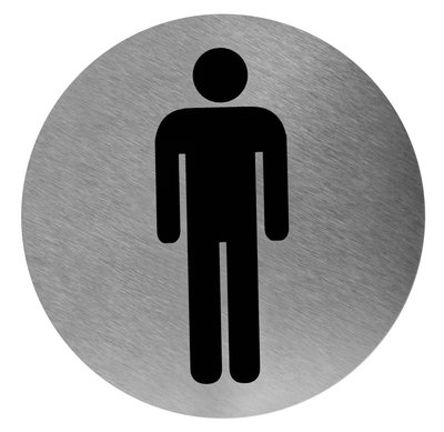 Pictogram rond man RVS