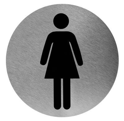 Pictogram rond vrouw RVS