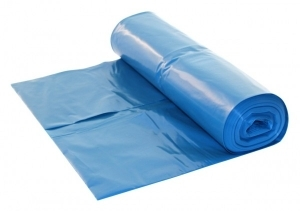 LDPE afvalzak 65/25x140cm T70 blauw